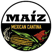 This is the restaurant logo for MAIZ Mexican Cantina