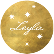 This is the restaurant logo for Leyla