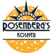 This is the restaurant logo for Rosenberg's Kosher