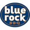 This is the restaurant logo for Blue Rock BBQ
