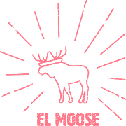 This is the restaurant logo for El Moose