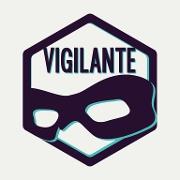 This is the restaurant logo for Vigilante Gaming Bar