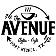 This is the restaurant logo for The Avenue Coffee & Cafe
