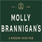 This is the restaurant logo for Molly Brannigan's Irish Pub