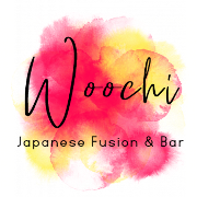 This is the restaurant logo for Woochi Japanese Fusion & Bar