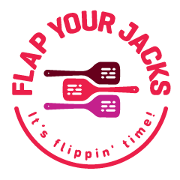 This is the restaurant logo for Flap Your Jacks