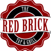 This is the restaurant logo for Red Brick Tap & Grill