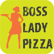 This is the restaurant logo for Boss Lady Pizza