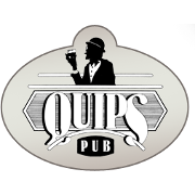 This is the restaurant logo for Quips Pub