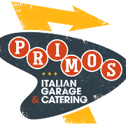 This is the restaurant logo for Primos Italian Garage