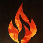 This is the restaurant logo for Bonfyre American Grille