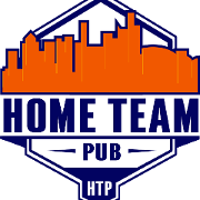 This is the restaurant logo for Home Team Pub