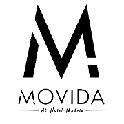 This is the restaurant logo for MOVIDA at Hotel Madrid