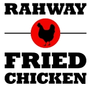 This is the restaurant logo for Rahway Fried Chicken