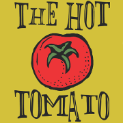 This is the restaurant logo for Hot Tomato Pizza