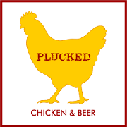 This is the restaurant logo for Plucked Chicken & Beer