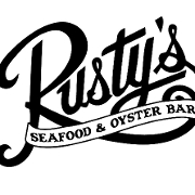 This is the restaurant logo for Rusty's Seafood and Oyster Bar