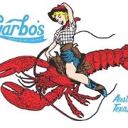This is the restaurant logo for Garbo's Lobster Restaurant