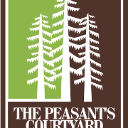 This is the restaurant logo for The Peasant's Courtyard