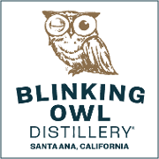 This is the restaurant logo for Blinking Owl Distillery