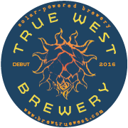 This is the restaurant logo for True West Brewing Company