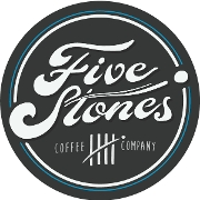 This is the restaurant logo for Five Stones Coffee Co
