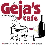 This is the restaurant logo for Geja's Cafe