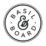 This is the restaurant logo for Basil & Board