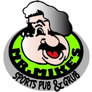 This is the restaurant logo for Mr Mikes Pub & Pizza
