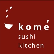This is the restaurant logo for Kome Sushi Kitchen