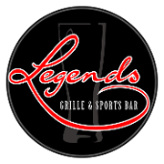 This is the restaurant logo for Legends Bar & Grille