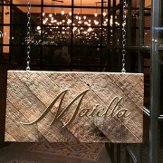 This is the restaurant logo for Maiella