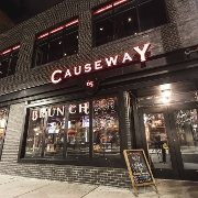 This is the restaurant logo for Causeway Restaurant & Bar