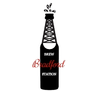 This is the restaurant logo for Bradford Brew Station