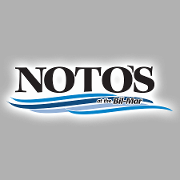 This is the restaurant logo for Noto's at the Bil-Mar