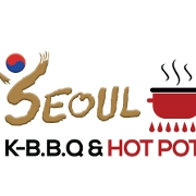 This is the restaurant logo for Seoul BBQ