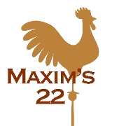 This is the restaurant logo for Maxim's 22