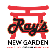 This is the restaurant logo for Ray's New Garden