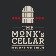 This is the restaurant logo for The Monk's Cellar