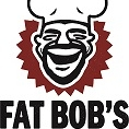 This is the restaurant logo for Fat Bob's Smokehouse