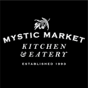 This is the restaurant logo for Mystic Market Kitchen & Eatery