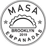 This is the restaurant logo for Masa Empanadas & Pizza