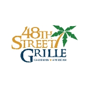 This is the restaurant logo for 48th Street Grille