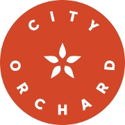 This is the restaurant logo for City Orchard