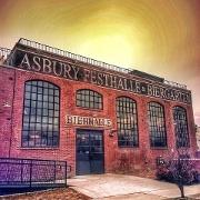 This is the restaurant logo for Asbury Festhalle & Biergarten