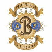 This is the restaurant logo for Asbury Festhalle & Biergarten