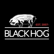 This is the restaurant logo for Black Hog BBQ