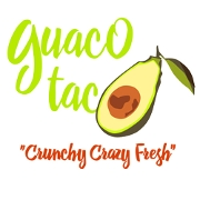 This is the restaurant logo for Guaco Taco Crystal Falls