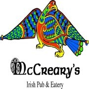 This is the restaurant logo for McCreary's Irish Pub and Eatery