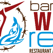 This is the restaurant logo for Barbed Wire Reef